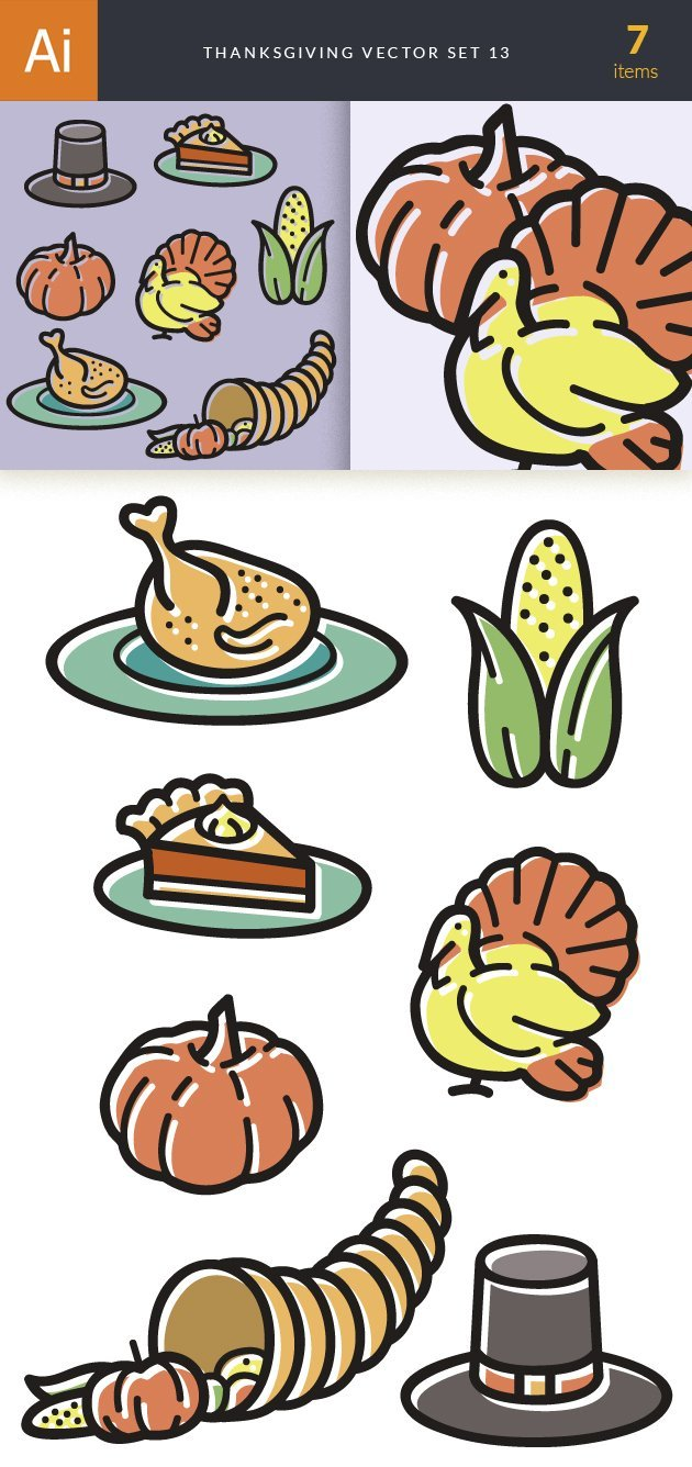 Thanksgiving Vector Set 13 2