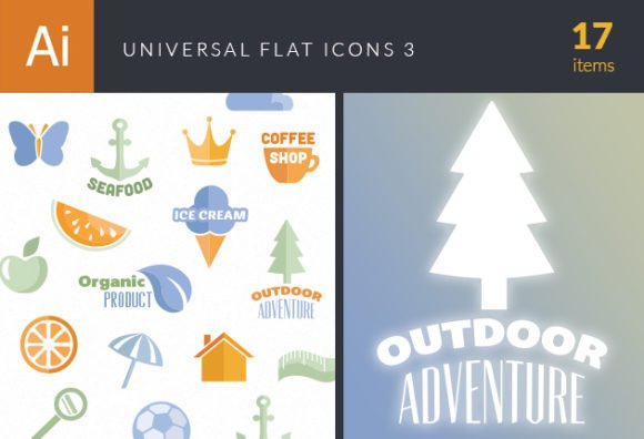 Universal Flat Icons Vector Set 3 1
