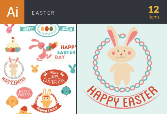 Vector Easter Elements 6 1