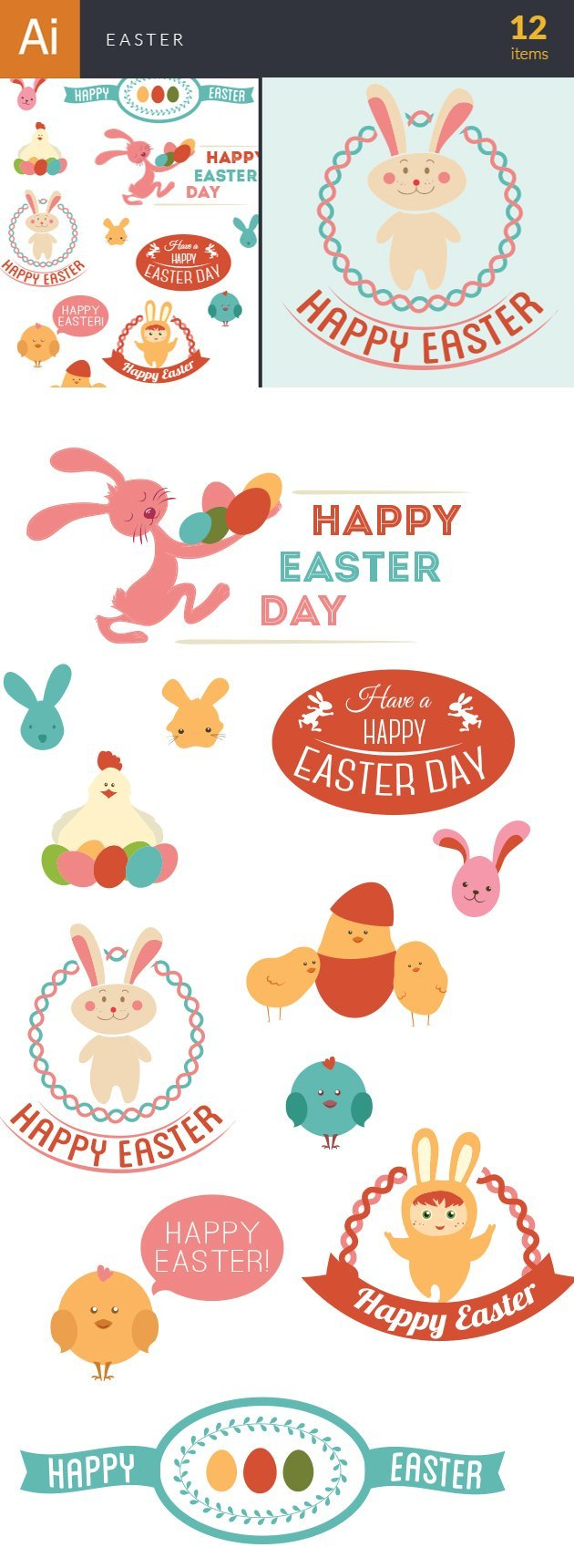 Vector Easter Elements 6 2