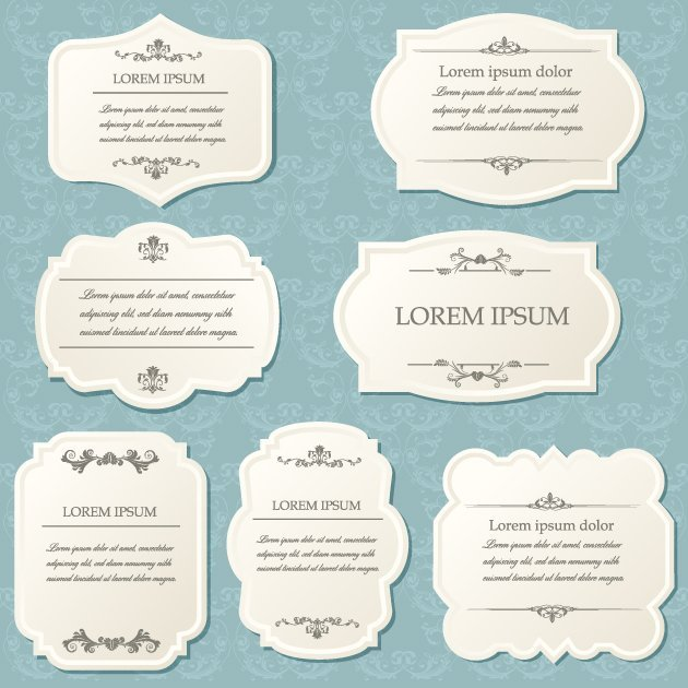 Vintage Frames Vector Set 1 2