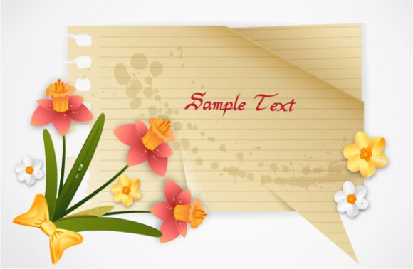 vector spring frame with flowers 1