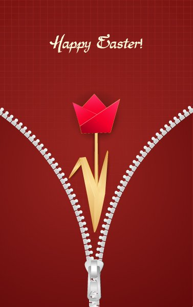 paper tulip vector illustration 1