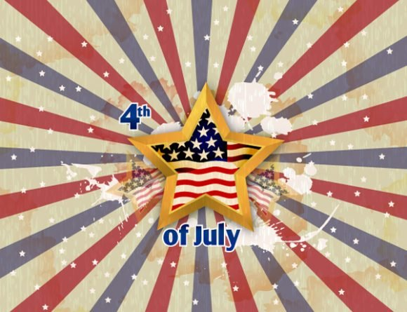 Glory Vector Artwork: Vector Artwork 4th Of July Background With Stars 1