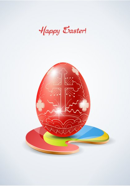 easter background with egg vector illustration 1