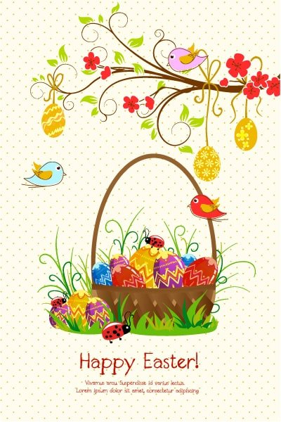 Creative Vector Image: Easter Background Vector Image Illustration 1