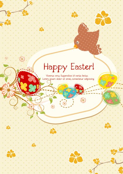 vector colorful background with eggs 1