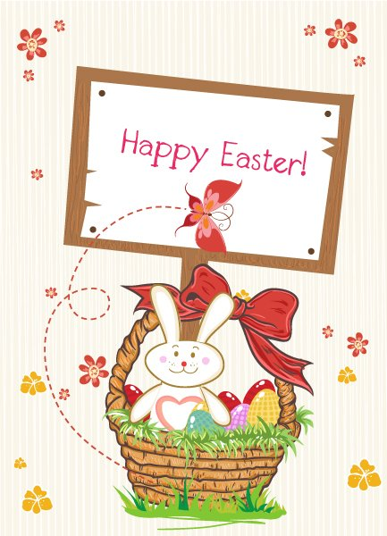 Flower, Spring Vector Design Vector Easter Background  Wood Sign 1