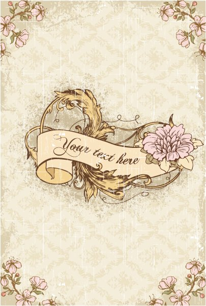 New Scroll Vector Graphic: Vintage Scroll With Floral Vector Graphic Illustration 1