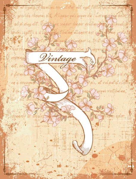Scroll, Ribbon, Floral Vector Image Vector Vintage Scroll  Floral 1