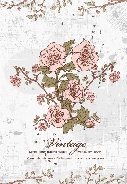 Gorgeous Grunge Eps Vector: Floral With Grunge Eps Vector Illustration 1