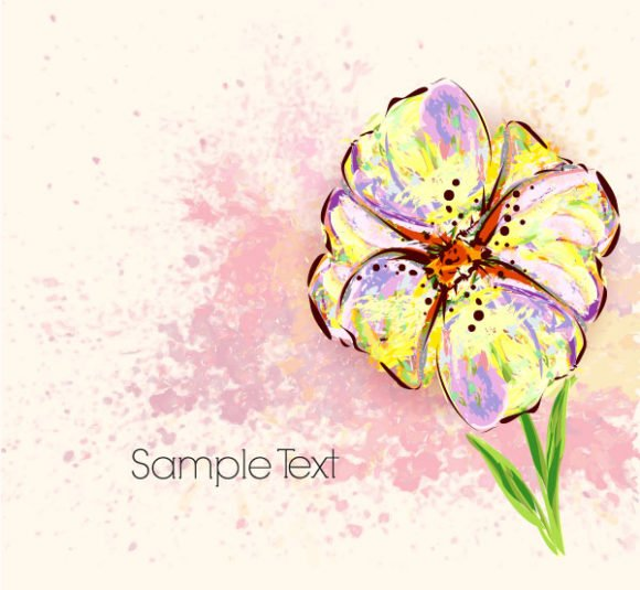 Floral Vector Illustration: Watercolor Floral Background Vector Illustration Illustration 1