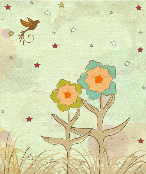 Amazing Grunge Vector Artwork: Grunge Floral Background Vector Artwork Illustration 1
