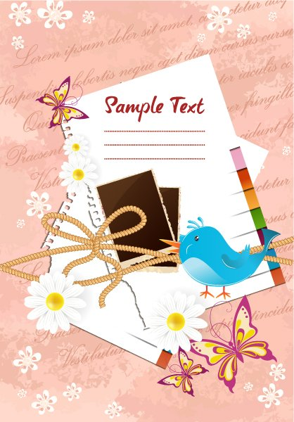 Insane Scrapbook Vector Image: Scrapbook Elements Vector Image Illustration 1
