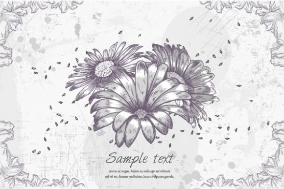Amazing Grunge Vector Graphic: Vector Graphic Floral Grunge 1