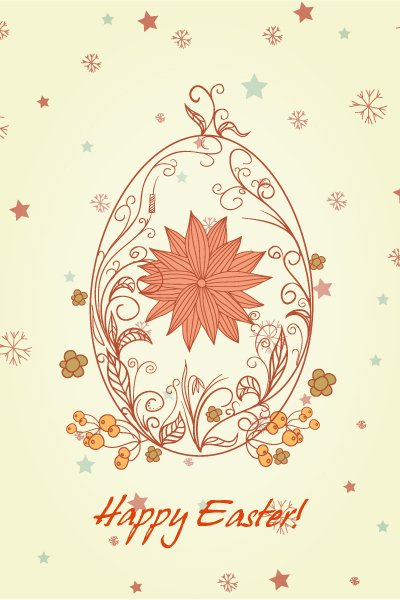 Gorgeous Floral Vector: Egg With Floral Vector Illustration 1
