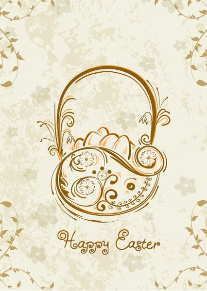 Basket Vector Illustration: Basket Of Eggs Vector Illustration Illustration 1