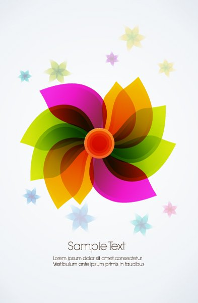 abstract flower vector illustration 1