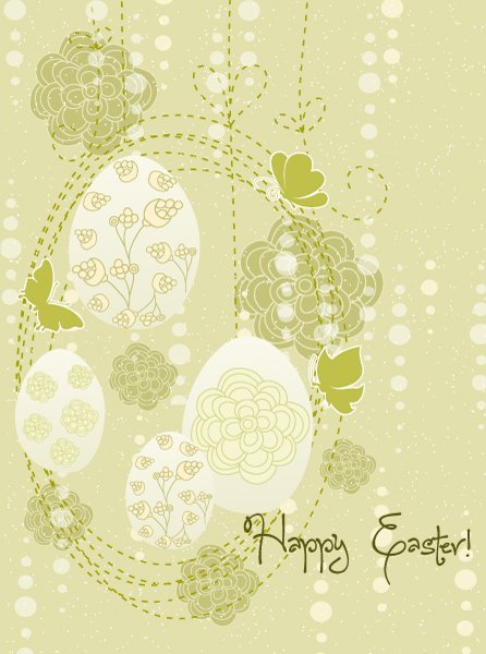 Illustration Eps Vector: Spring Background With Eggs Eps Vector Illustration 1