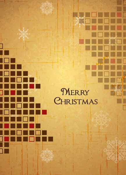 Best Christmas Vector Image: Christmas Illustration With Christmas Tree 1