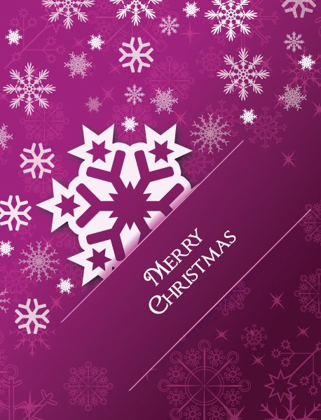 Snow Vector Image: Christmas Illustration With Snow Flake 1
