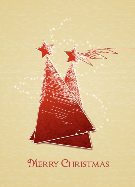Insane Christmas Vector Graphic: Christmas Vector Graphic Illustration With Christmas Tree 1