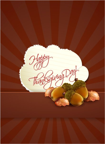 Thanksgiving Vector Background Happy Thanksgiving Day Vector 1