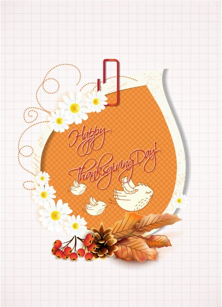 Buy Cranberries Vector Graphic: Happy Thanksgiving Day Vector Graphic 1