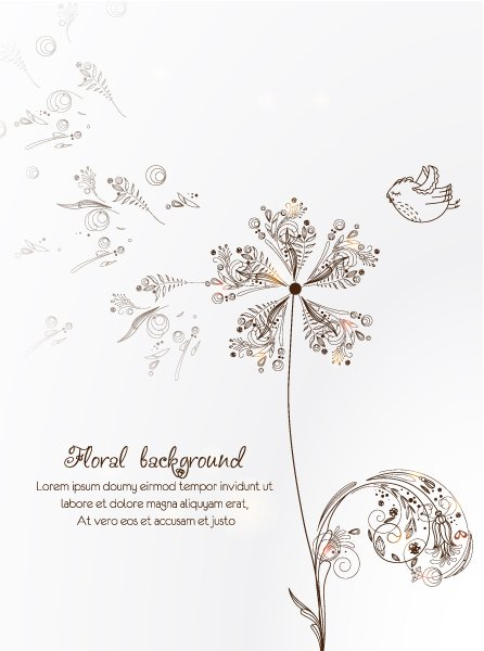 Illustration, Flowers Vector Art Floral Vector Illustration  Spring Flowers 1