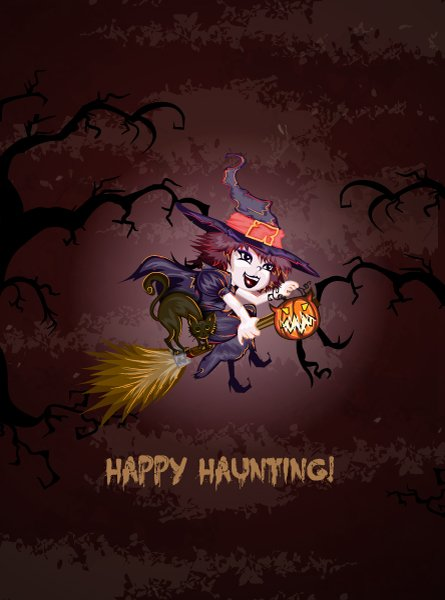 Halloween Vector Halloween Background  Witch Vector Illustration 1