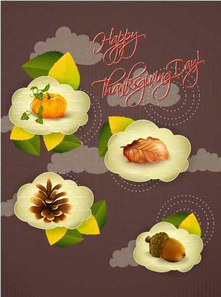 Thanksgiving Vector Image: Happy Thanksgiving Day Vector Image 1