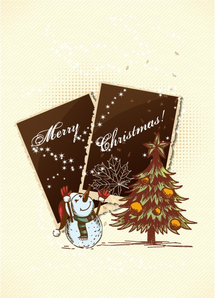 Ornament Vector Artwork Christmas Vector Illustration  Photo Frame 1