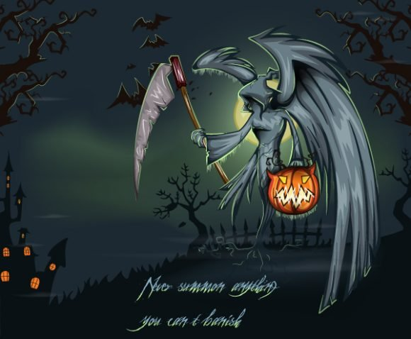 Smashing Halloween Vector Artwork: Halloween Background Vector Artwork Illustration 1