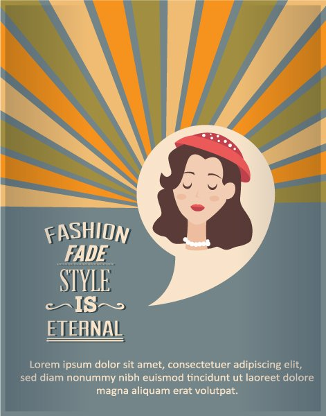 Illustration Vector Design: Vector Design Illustration With Fashion Elements 1