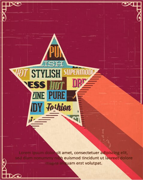 Typography, Star Vector Vector Illustration  Typography Elements  Star Shape 1