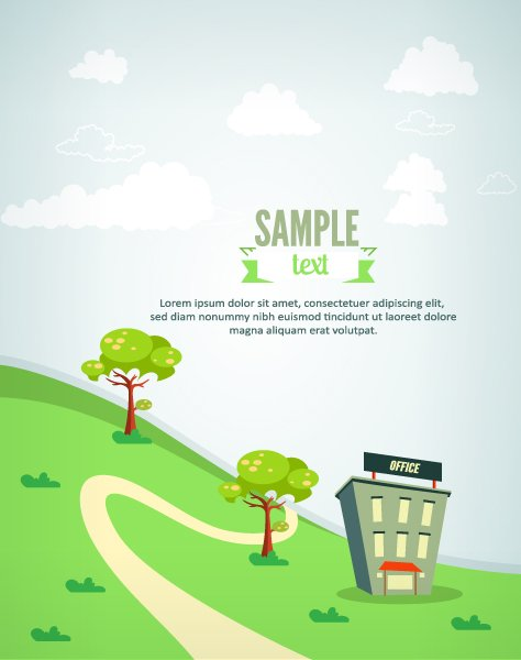 Advertisement Vector Illustration Vector Illustration  Buildings 1