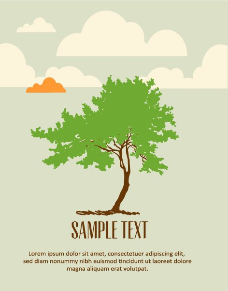 Illustration Vector Image Vector Background Illustration  Tree 1