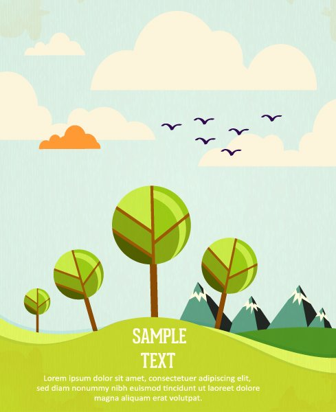 Surprising Illustration Vector Graphic: Vector Graphic Background Illustration With Tree 1