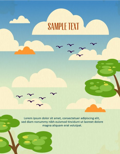 Smashing Illustration Eps Vector: Eps Vector Background Illustration With Clouds, 1