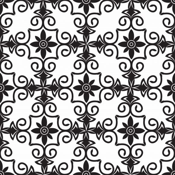 Pattern Vector Graphic: Vector Graphic Arabesque Seamless Pattern 1