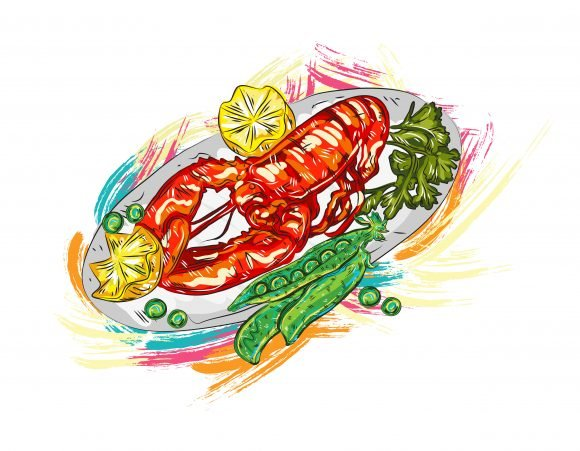 Food Vector Design: Cooked Food Vector Design  Illustration 1