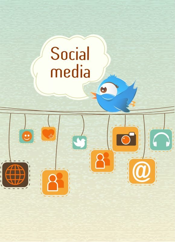 vector social media illustration 1