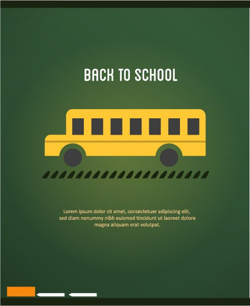 School Vector: Back To School Vector Illustration With School Bus 1