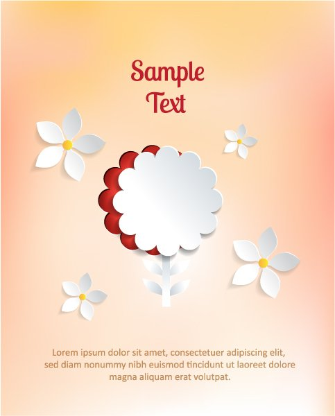 Trendy Flowers Vector Design: 3d Abstract Vector Design Illustration With Abstract Sticker Flowers 1