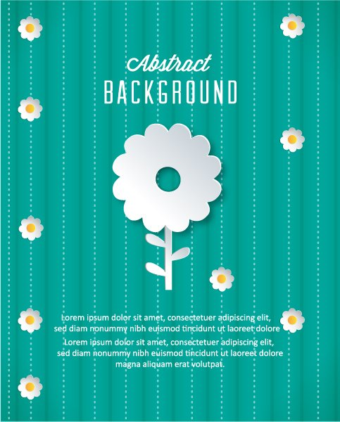 Minimal, Flowers Vector Background 3d Abstract Vector Illustration  Abstract Sticker Flowers 1