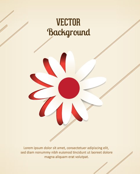 3d Vector Image 3d Abstract Vector Illustration  Abstract Sticker Flowers 1