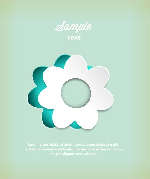 Amazing Sticker Vector Image: 3d Abstract Vector Image Illustration With Abstract Sticker Flowers 1