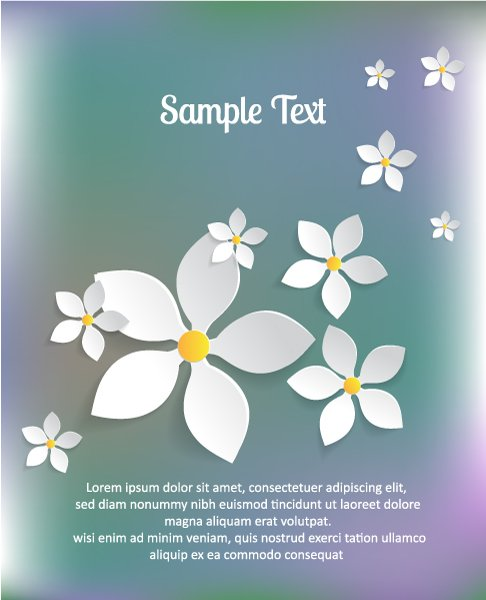 Paper, 3d, Sticker Vector Design 3d Abstract Vector Illustration  Abstract Sticker Flowers 1