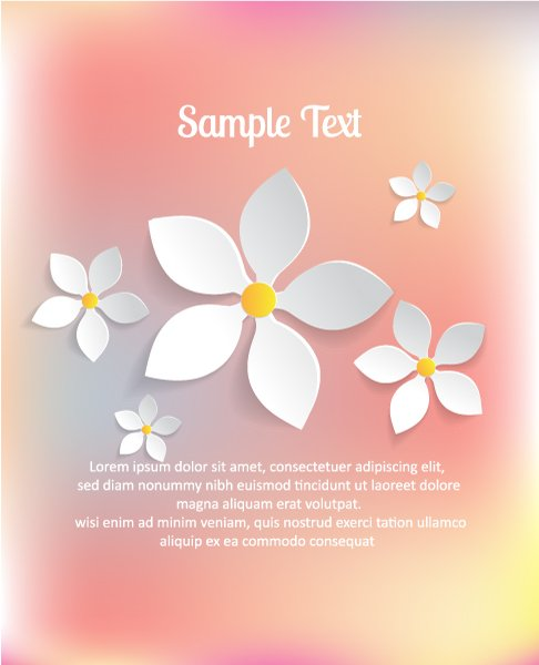 Flowers Vector Illustration 3d Abstract Vector Illustration  Abstract Sticker Flowers 1