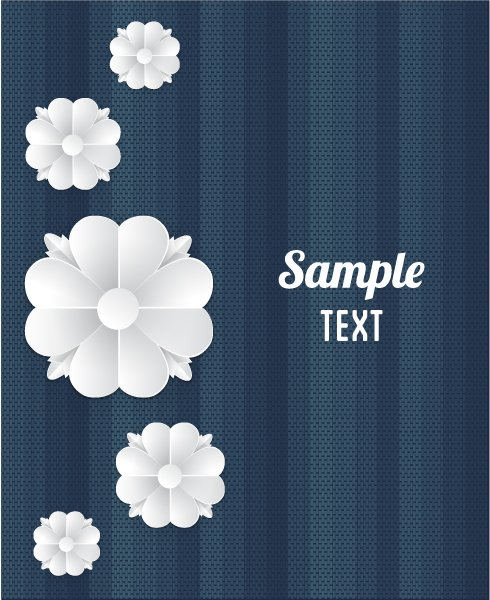 Paper Vector Artwork: 3d Abstract Vector Artwork Illustration With Paper Flowers 1